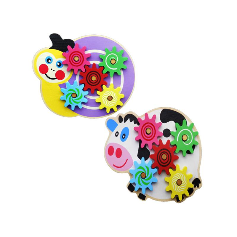 Baby Kids Children Snail Cow Wooden Animal Toy