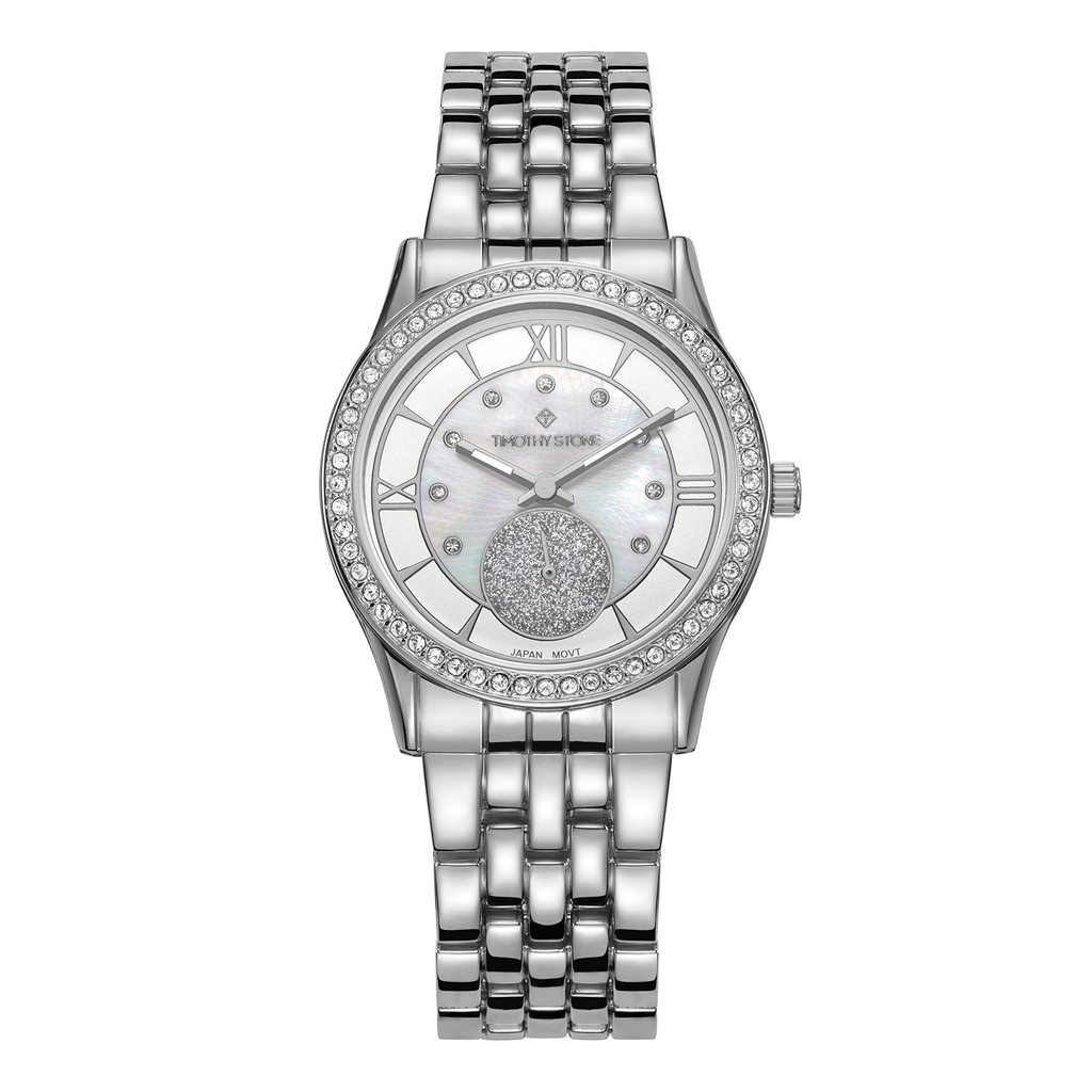 Đồng hồ Nữ Timothy Stone Women's HUSTON Silver Watch - H-013