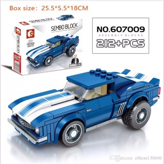 Mẫu Lego Sembo Block 607009 Xe Đua(212 mảnh)