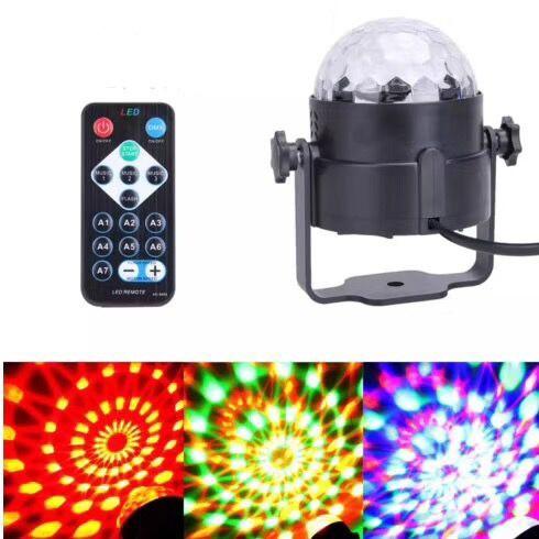 Đèn Led 7 Màu Pha Lê kèm Remote