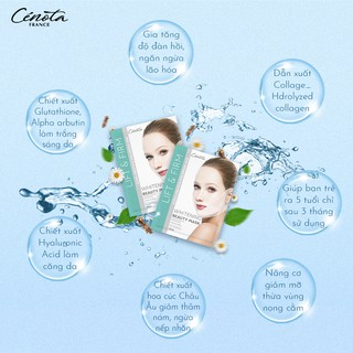 Miếng mặt nạ nâng cơ dưỡng trắng Cénota Whitening Beauty Mask 30ml 6