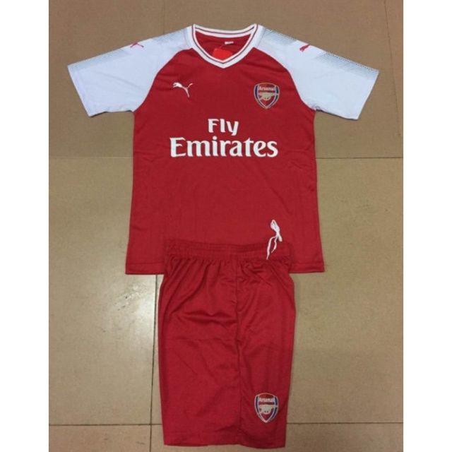 ao Bộ quần áo bóng đá Arsenal đỏ ( bộ quần áo đá bóng , bộ quần áo thể thao ) ,.,