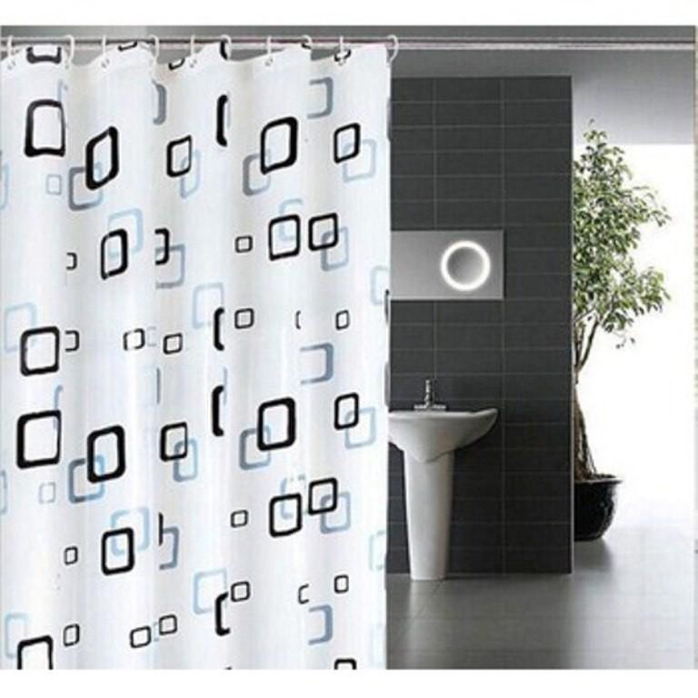 Rèm nhà tắm PEVA dài 2m không thấm nước