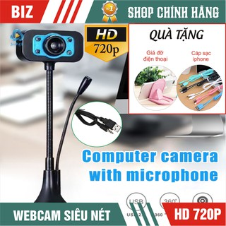 {Giá sập sàn- BH 12 tháng}Webcam có tích hợp mic và đèn Led trợ sáng- Siêu Nét!!