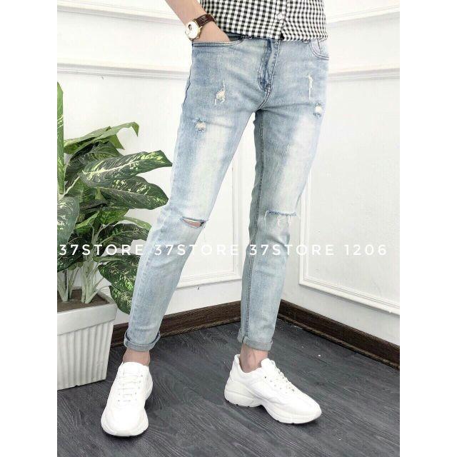 Quần jean nam đẹp jeans Nam mẫu wash rách thời trang Ms 1991 có size đại ạ