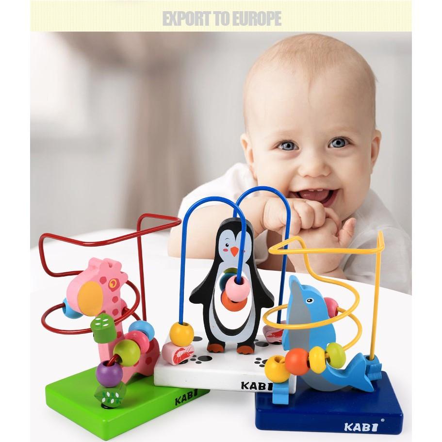 Bộ Luồn Hạt Bằng Gỗ Hình Thú Mini_SmartKids