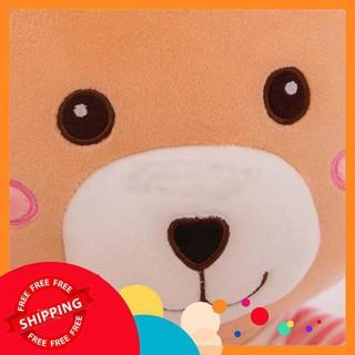 [HOT] Gấu má hồng áo kẻ ( giao màu ngẫu nhiên)