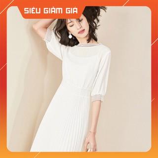 Váy suông voan 2 lớp nhẹ nhàng thanh lịch đầm công sở hàng thiết kế kiểu dáng Hàn Quốc