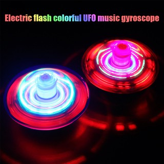 Gift Music Electric Kids Fun Spinning Gyroscope Toy Led Light