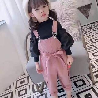 Set yếm kaki kèm áo tay bồng cho bé váy das và váy tiểu thư cho bé