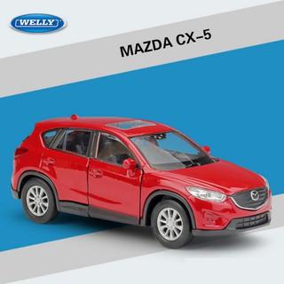 Mô hình xe ô tô Mazda CX5 tỉ lệ 1 36 xe bằng sắt chạy cót mở 2 cửa trước - xe ô tô đồ chơi trẻ em thumbnail