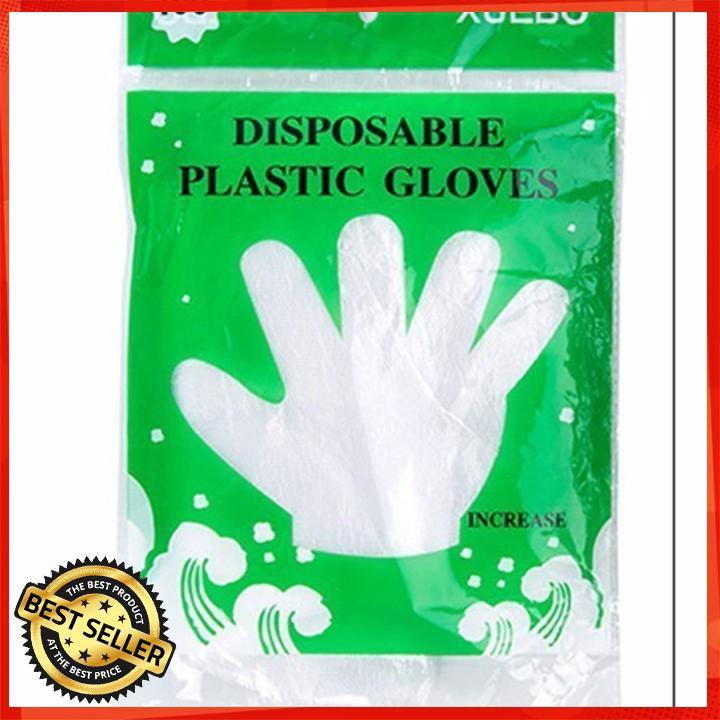 [ Giá Rẻ Nhất ]  Túi 100 găng tay nilon vệ sinh