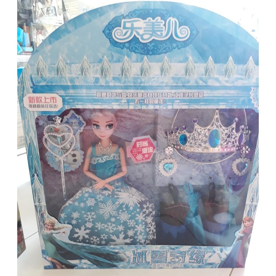 Bộ Đồ Chơi Búp Bê Công Chúa Elsa và Phụ Kiện (Hộp To)