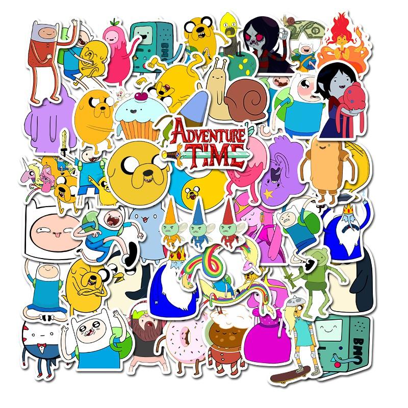 50 Miếng dán trang trí hình nhân vật trong Adventure Time