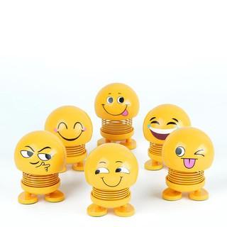 Thú nhún emoji con lắc lò xo biểu cảm gương mặt-mẫu ngẫu nhiên