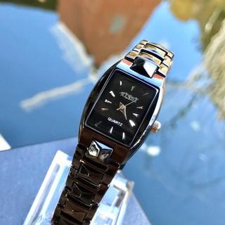 (Giá sỉ) Đồng hồ thời trang nam nữ Yishi mặt chữ nhật dây kim loại đen cực đẹp