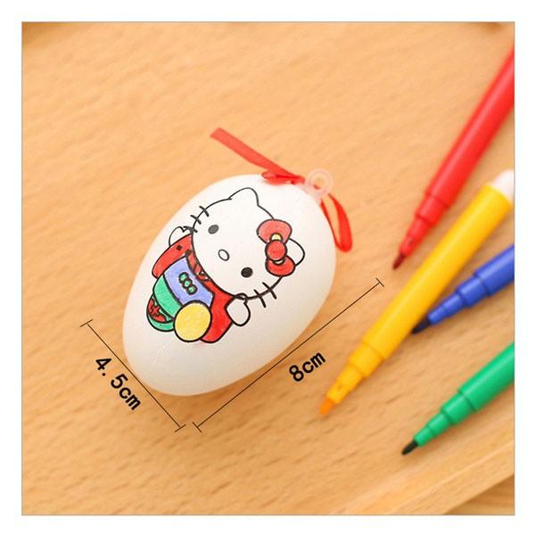 Túi lưới 20 trứng tô màu kèm 4 bút màu dạ