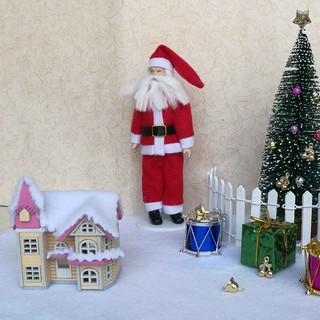 amleso* 1:12 Dollhouse Miniature DIY Doll House Kits Attic Assembly House Xmas Gifts