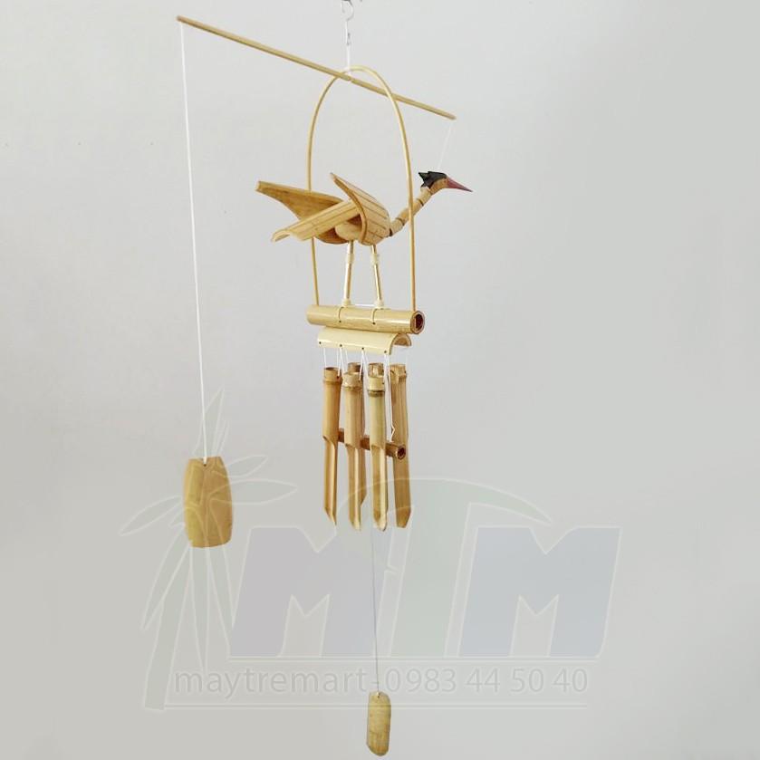 Chuông gió tre, chuông gió trúc (con hạc) MTCG01