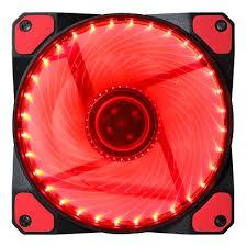 Quạt thông gió Fan mod case 12cm -36 led màu đỏ kèm ốc