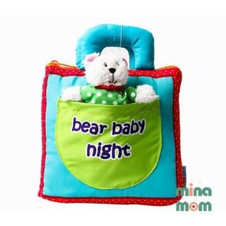 Sách vải bear baby night