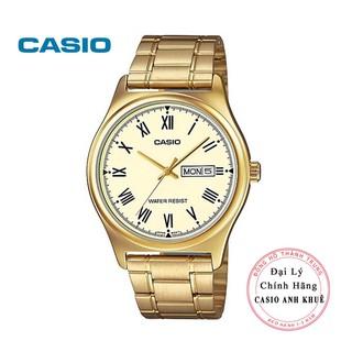 Đồng hồ nam Casio MTP-V006G-9BUDF dây kim loại