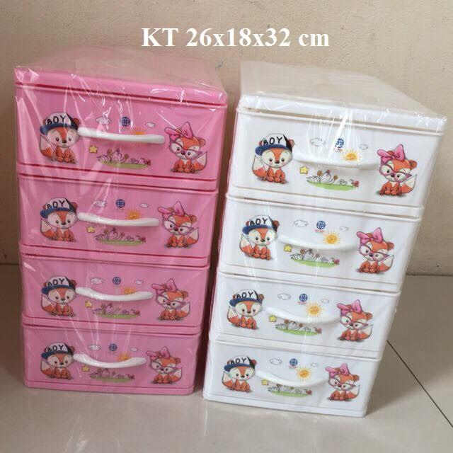 Tủ nhựa mini 4 ngăn Việt Nhật (tủ nhỏ không đựng quần áo)