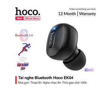 Tai Nghe Bluetooth Hoco EK04 V5.0 1 bên mini siêu nhỏ pin lâu