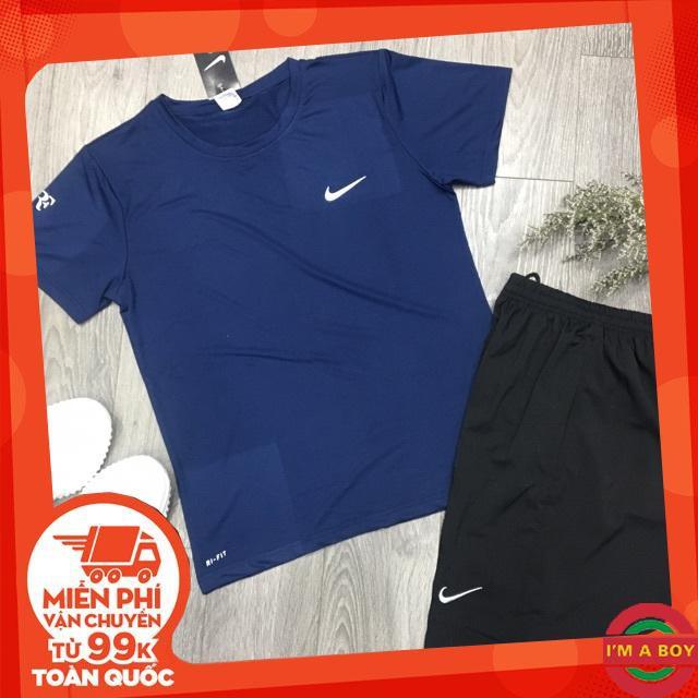 Bộ Thể Thao Thun Lạnh Nike Trơn Đơn Giản Dễ Mặc - Bộ thun nam - Bộ thể thao nam Bộ thể thao