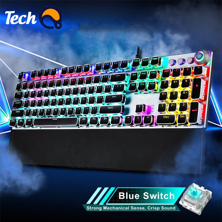 Bàn phím cơ f2088 Blue Switch với 22 chế độ led, phím siêu nảy chuyên dụng cho game thủ - bảo hành 12 tháng.