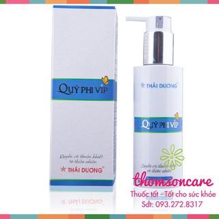 Dung dịch vệ sinh phụ nữ Quý Phi VIP - Giúp bảo vệ vùng kín, tránh mùi hôi, nước rửa phụ khoa từ Thái Dương thumbnail