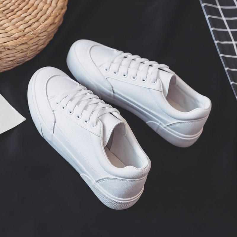 Giày Da Màu Trắng Nữ G22, Giày Thể Thao Sneaker Nữ Hàng Đẹp