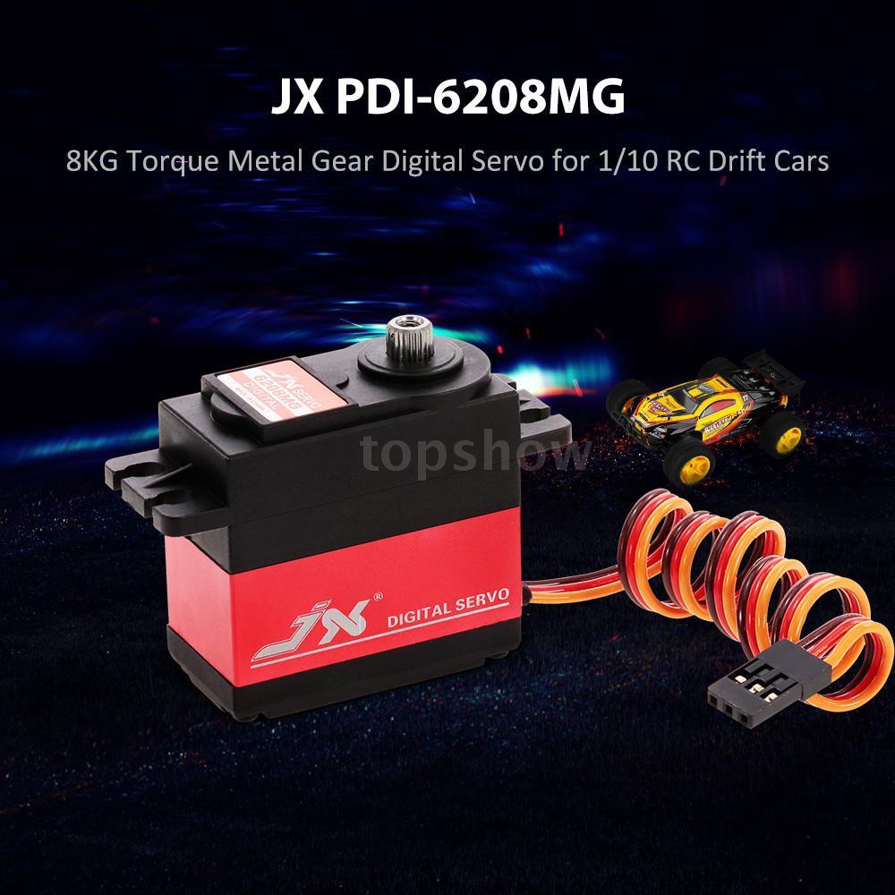 topshow JX PDI-6208MG 8KG Metal Gear Digital Servo for 1/10 RC Drift Cars