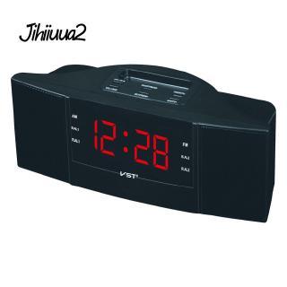 Đài Radio AM/FM với đồng hồ báo thức có màn hình LED phích cắm EU tiện dụng