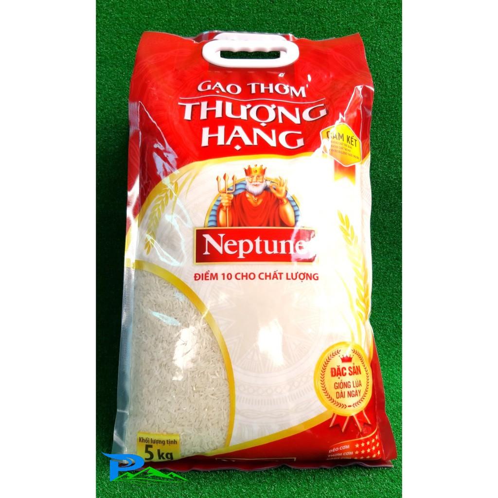 Gạo Neptune 5kg - Gạo dẻo thơm Thượng Hạng