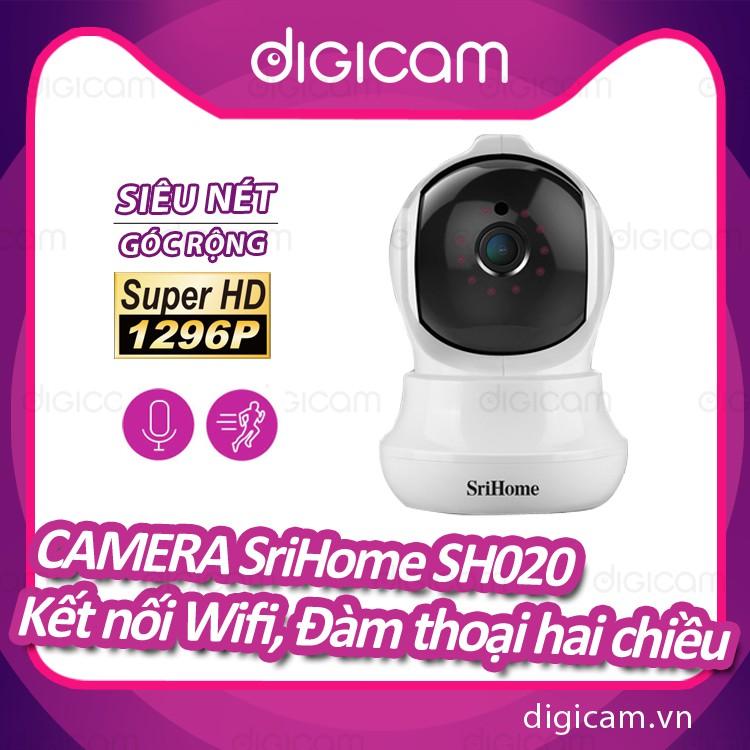 Camera Srihome SH020 - 3MP FHD - Kết nối wifi - Đàm thoại hai chiều - Phát hiện chuyển