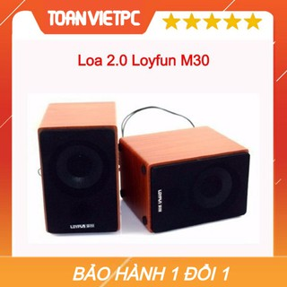 [Mã ELORDER5 giảm 10K đơn 20K] Loa vi tính 2.0 Loyfun M30 gỗ