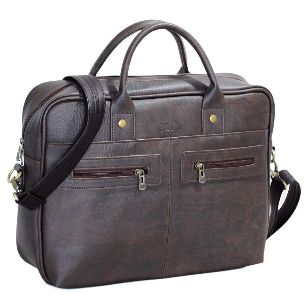 Cặp da công sở nhiều ngăn, túi đựng laptop chính hãng