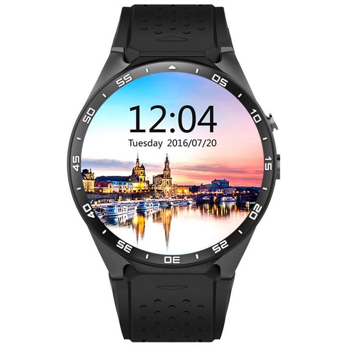 Đồng hồ thông minh Kingwear KW88 (Đen) hỗ trợ sim, 3G, Wifi, Bluetooth