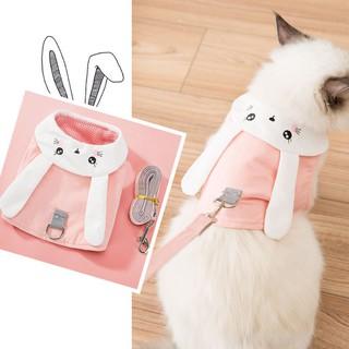 Áo thỏ cho chó mèo kết hợp dât dắt - Dây dắ thumbnail