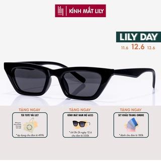 Kính mát nam nữ Lilyeyewear mắt mèo chống UV400, chất liệu nhựa chắc chắn thiết kế thời trang 95028