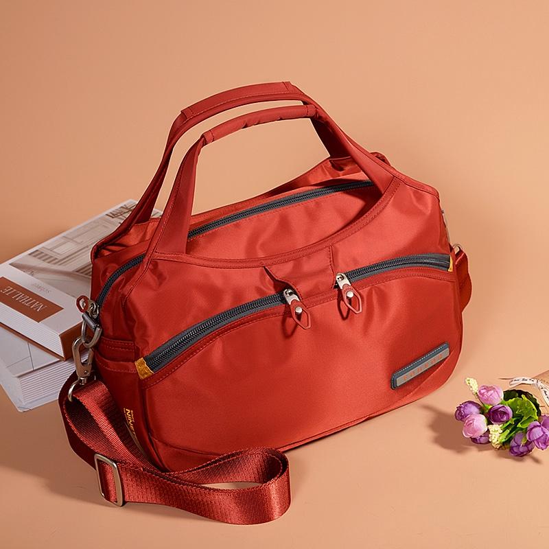 กระเป๋าถือกระเป๋าความจุขนาดใหญ่หญิง 2019 ถุงไนลอนใหม่หญิงผ้า Oxford ไหล่ของ Messenger กระเป๋ากระเป๋าผ้าใบแบบสบาย ๆ