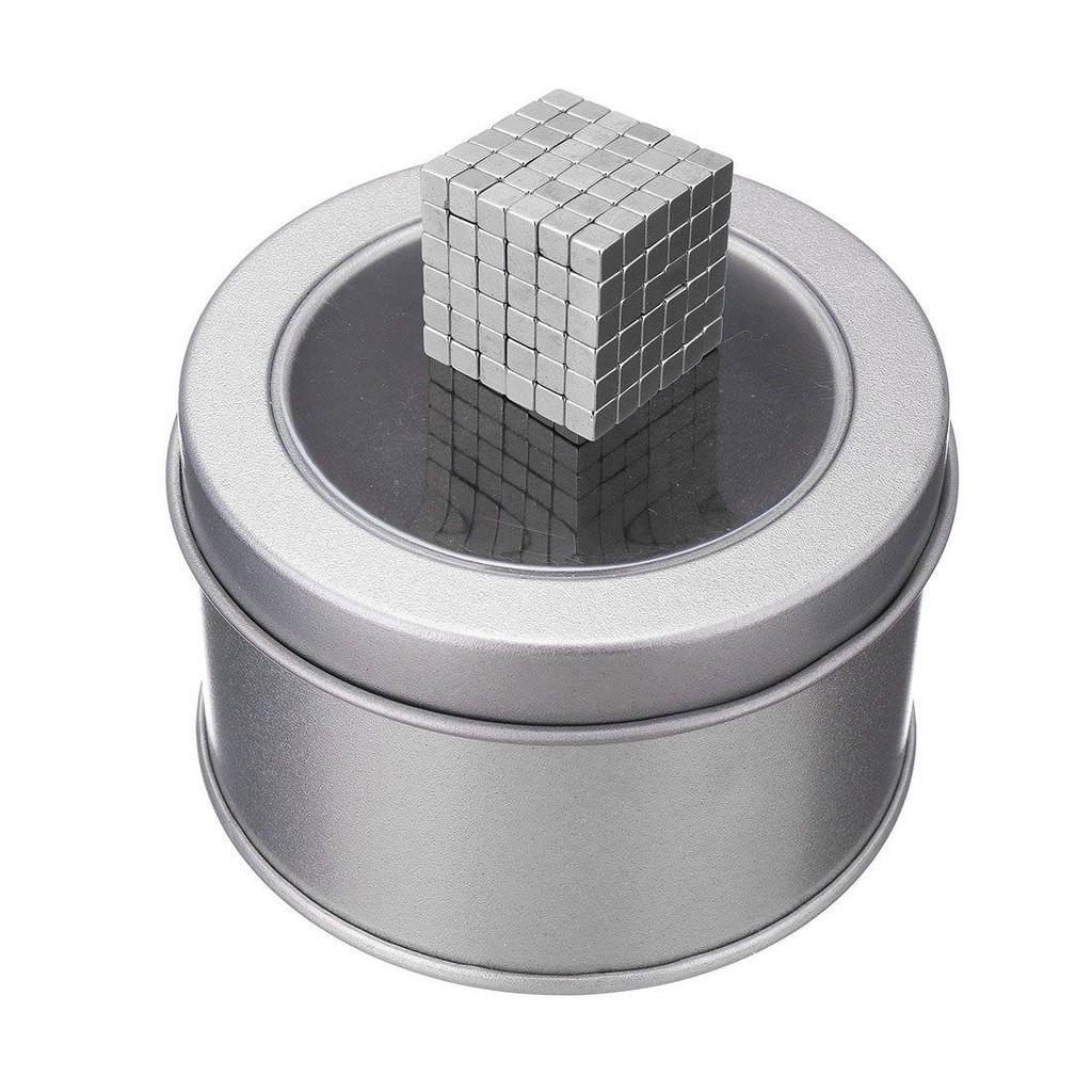 Nam châm Buckyballs 3mm Hình vuông 216 viên(Bạc)