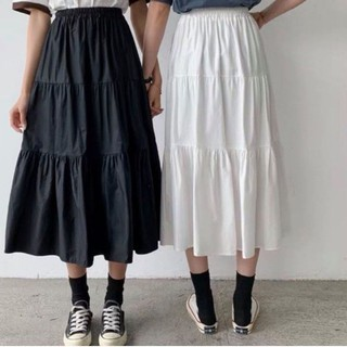 Chân váy 3 tầng màu đen