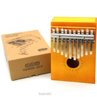 Children Thumb Piano Wooden Finger Board 10 Keys Durable Instrument Portable Toy Sound Musical