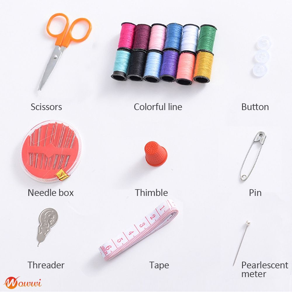 ❥ Portable  Box and Thread Set Hand Sewing Package Gdth
