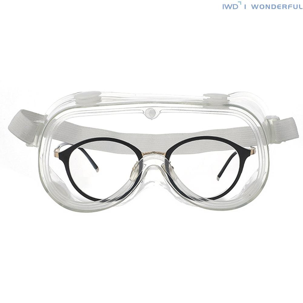 IWD Safety Glasses Protective Eyewear Goggles Splash Impact Resistant Anti-fog Lens with Air Vent UV Protection