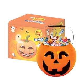 Hình ảnh [Mã GRO1PVM14 giảm 10% đơn 150K] Kẹo Chupa Chups Alpenliebe Halloween (Phiên Bản Hộp Bí Ngô) 460g/hộp-2