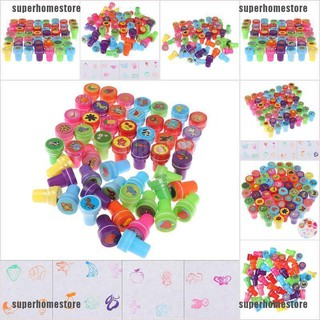 [superhomestore]5Pcs self-ink cartoon rubber stamps toy diy scrapbook gift educational toy jelly