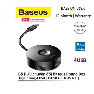 Bộ HUB chuyển đổi từ Type-C sang USB 3.0 Baseus Round Box HUB (4 cổng USB, 1xUSB3.0, 3xUSB2.0)